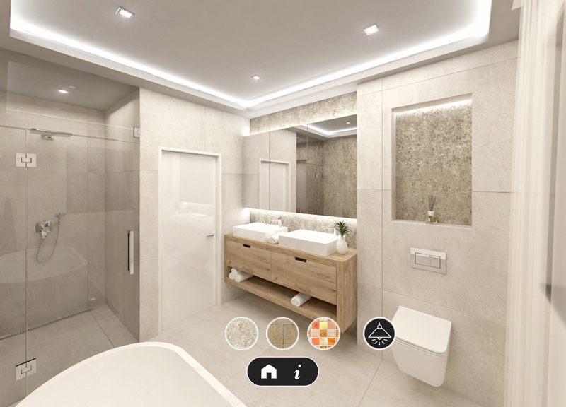ARを使ったバスルームのイメージ