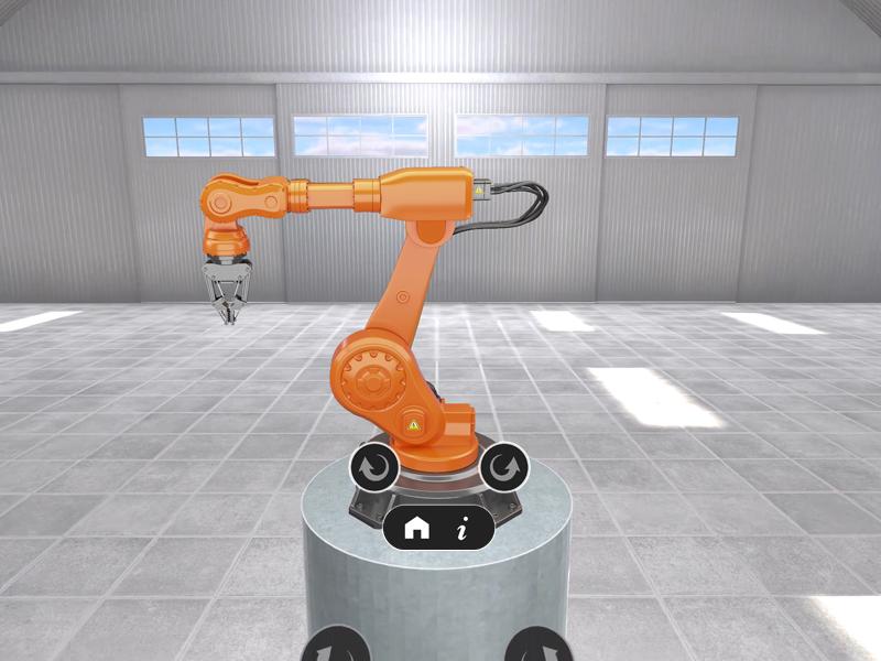 ARを使ったロボットアームのイメージ