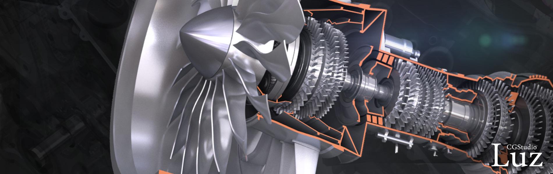 工業・機械製品CG